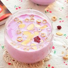 紫薯杏仁谷物早餐奶