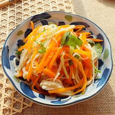 凉拌胡萝卜金针菇