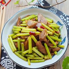 蒜苔炒羊肉