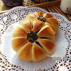 紫米花型面包