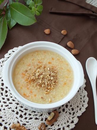 核桃小米粥的做法