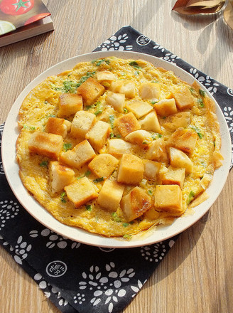 香煎馒头鸡蛋饼的做法