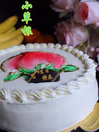 手绘生日蛋糕的做法