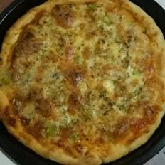 鲜虾牛肉双拼披萨的做法[图]