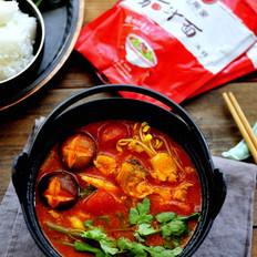 开胃解馋的番茄鱼锅