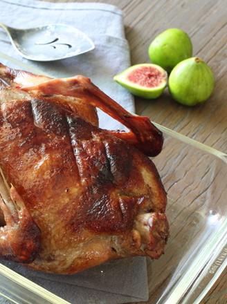 果香烤全鸭#美的嵌入式烤箱#的做法