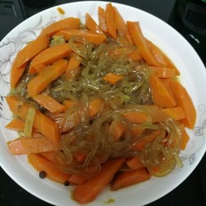 胡萝卜炖粉条