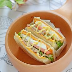 吞拿鱼三明治#丘比沙拉酱#