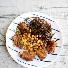 排骨炖黄豆海带