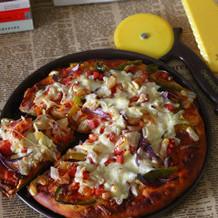 火腿扇贝披萨