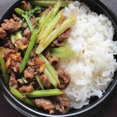 沙茶芹菜炒牛肉