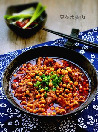 豆花水煮肉的做法