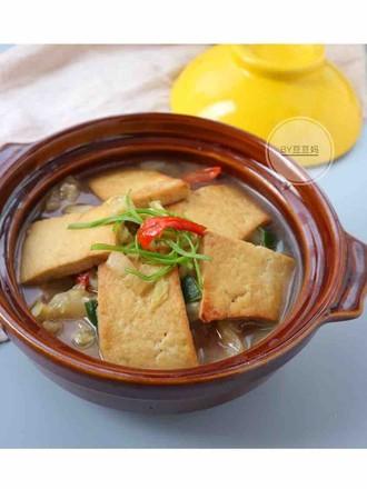 白菜豆腐煲的做法