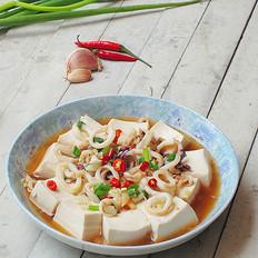 鲜鱿蒸豆腐