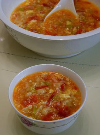 五彩珍珠疙瘩汤的做法