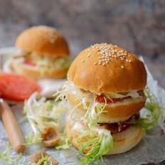 西班牙香肠汉堡