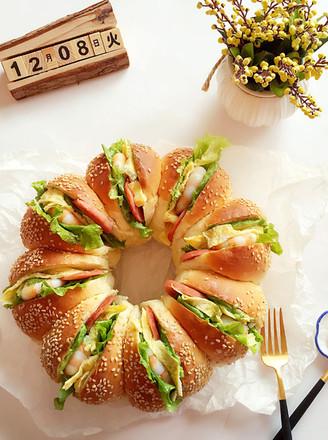 花环汉堡的做法【步骤图】_菜谱_美食杰