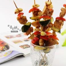 零厨艺做出五彩缤纷的——鸡腿杂蔬串