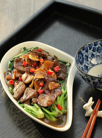 蚝油猪肝菠菜的做法