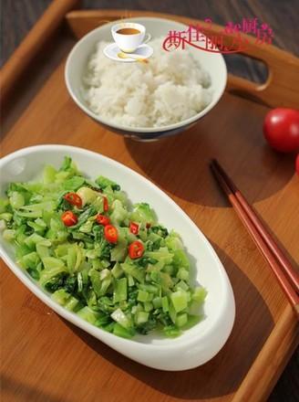 小炒芥菜的做法