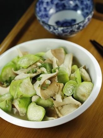 丝瓜炒猪肚菇#美的智能冰箱#的做法