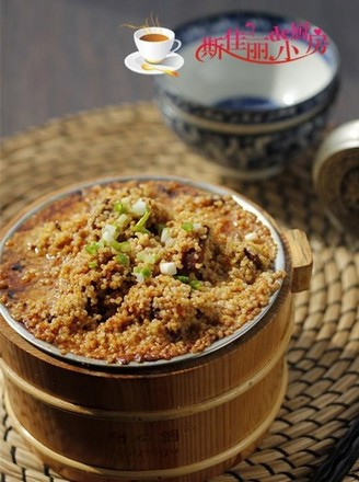 小米蒸牛肉的做法