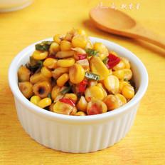 青红椒炒玉米粒