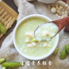 毛豆虾滑粥