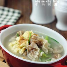 丝瓜鸡蛋肉燕汤