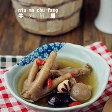 桂圆芡实鸡爪汤