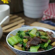 鸭肫青菜小炒