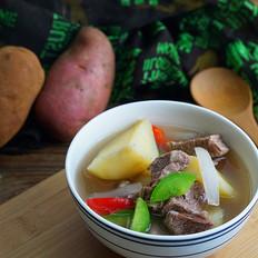 红皮土豆焖牛肉的做法[图]