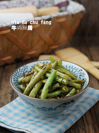 干菜四季豆小炒的做法