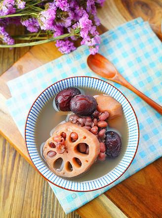 双红莲藕甜汤的做法