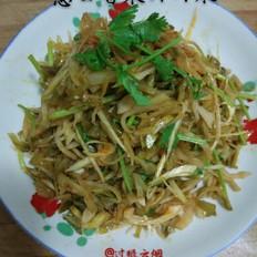 葱白香菜拌榨菜