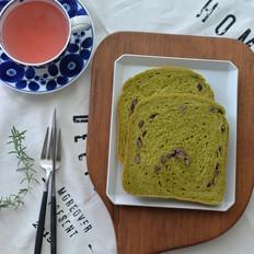 抹茶炼乳蜜豆吐司