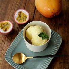 百香芒果冰淇淋