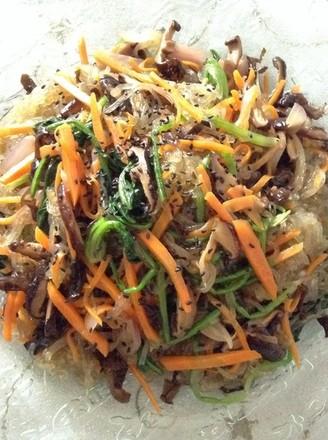 韩式凉拌杂菜的做法