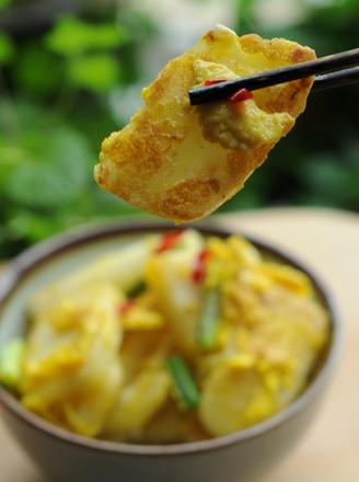 鸡蛋烤年糕#浙江小吃#的做法