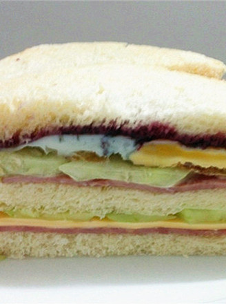 火腿芝士蛋三明治的做法【步骤图】_菜谱_美食杰