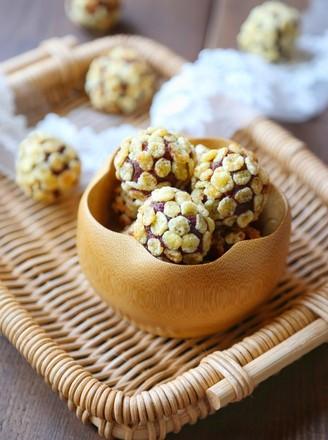 玉米片紫薯球的做法