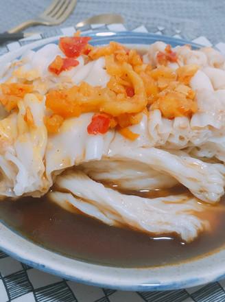 开胃早餐酸萝卜肠粉的做法