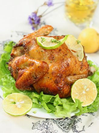迷迭香烤整鸡#美的嵌入式烤箱#的做法