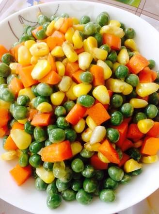 豌豆玉米粒的做法