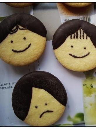 巧克力娃娃头饼干的做法【步骤图】_菜谱_美食杰