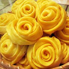 玫瑰花南瓜花卷