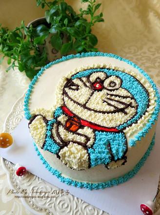 机器猫卡通蛋糕
