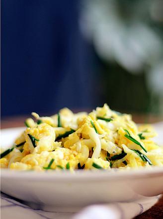 鸡蛋韭香炒银鱼的做法