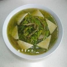 黄花榨菜豆腐汤