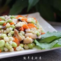 玉米炒毛豆